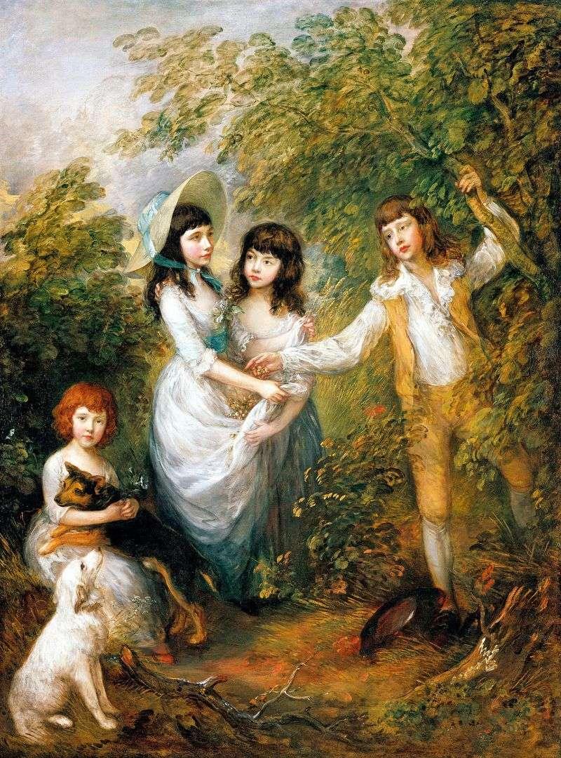 Груповий портрет дітей Маршів   Томас Гейнсборо