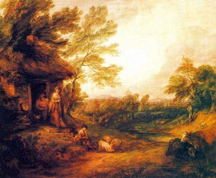 Сільський будиночок з поросятами   Томас Гейнсборо