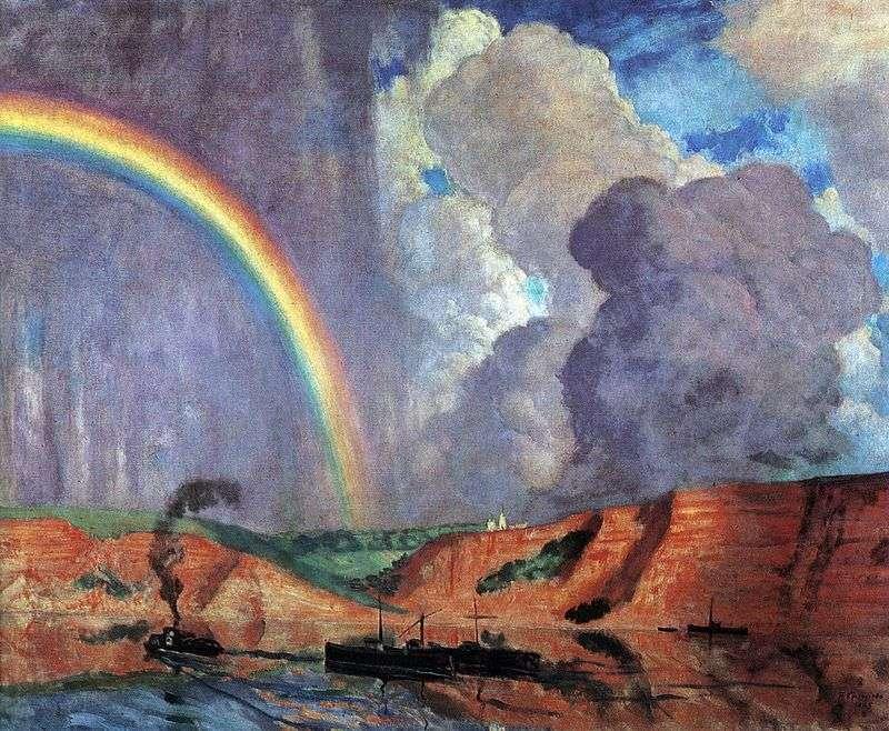 Волга. Веселка   Кустодієв