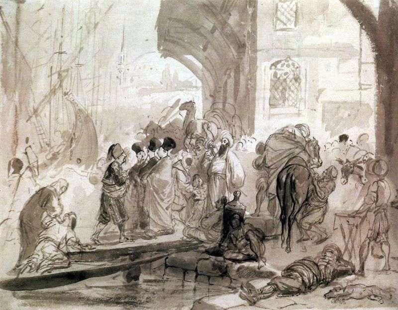 Гавань в Константинополі   Карл Брюллов