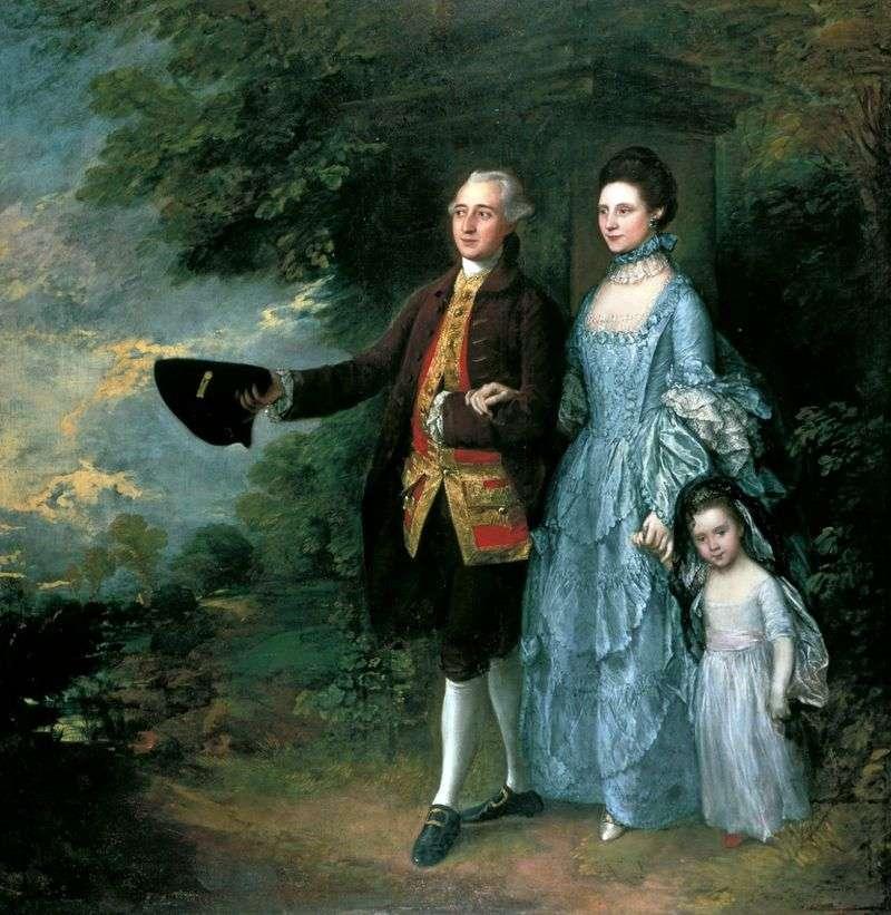 Джордж і Луїза Бім з дочкою Сарою   Томас Гейнсборо