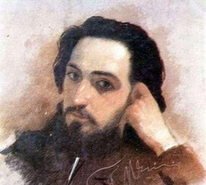 Портрет В. М. Гаршина   Григорій Мясоєдов