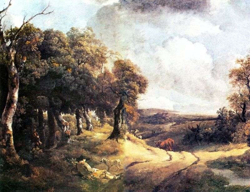 Дорога через ліс і хлопчик з собакою   Томас Гейнсборо