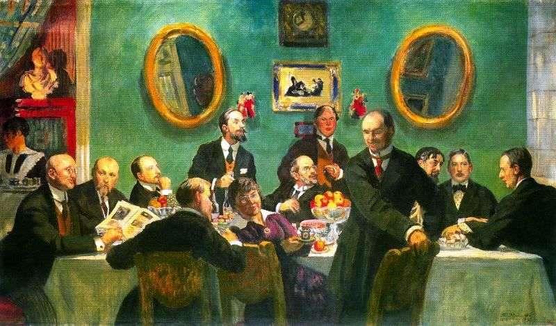 Груповий портрет художників Світу мистецтва   Борис Кустодієв