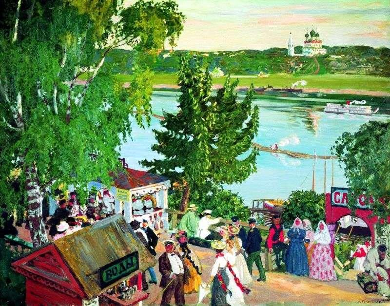 Гуляння на Волзі   Борис Кустодієв