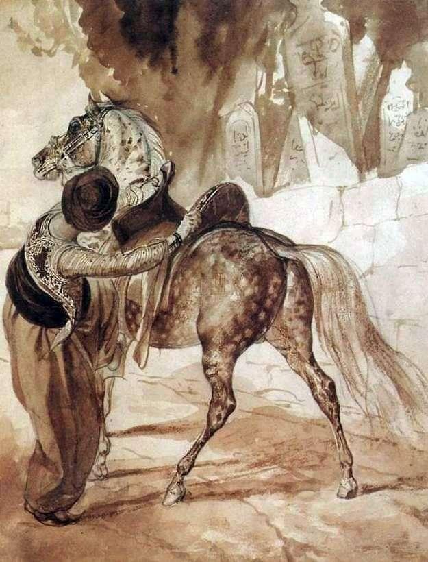 Грек з конем   Карл Брюллов