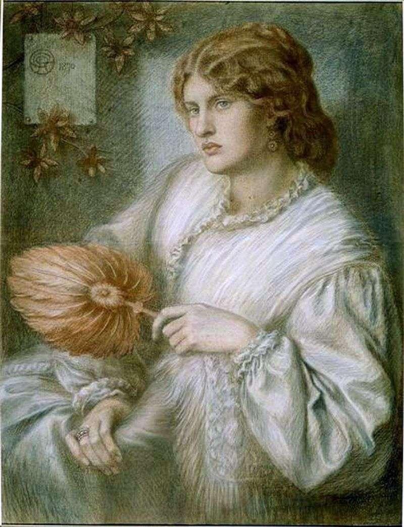 Жінка з віялом   Данте Россетті