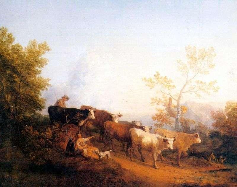 Пейзаж з повертаються стадом   Томас Гейнсборо