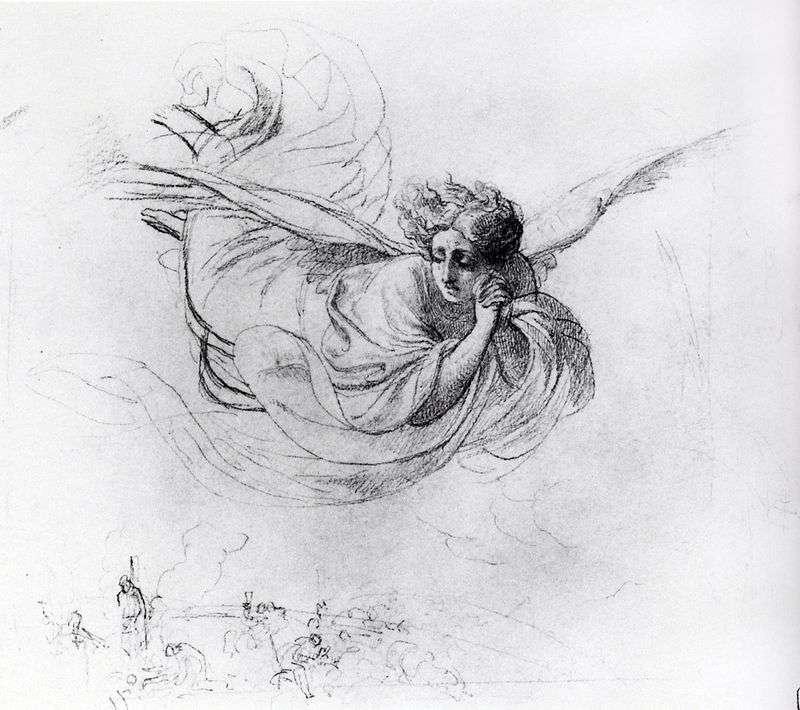 Летить ангел, оплакує жертви інквізиції   Карл Брюллов