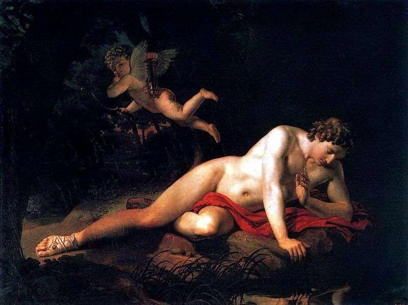 Нарцис, дивиться в воду   Карл Брюллов