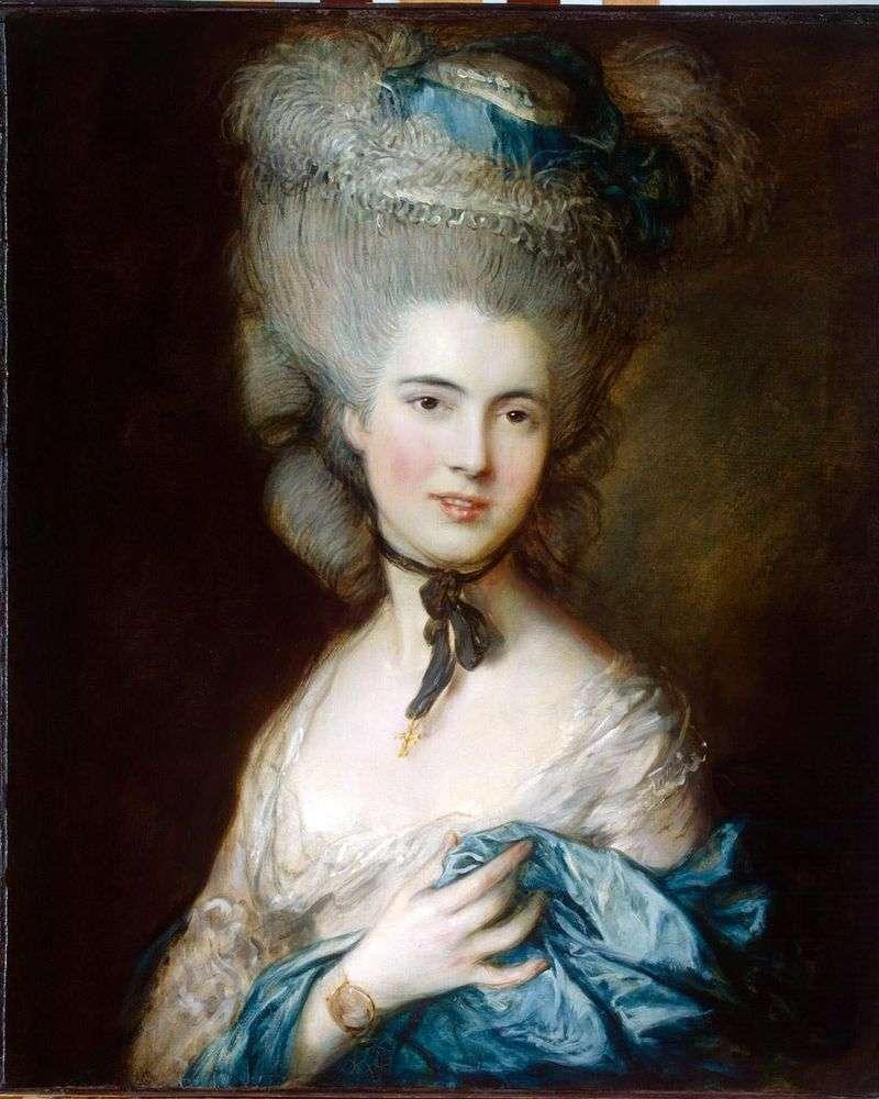 Портрет герцогині де Боуфорт (Дама в блакитному)   Томас Гейнсборо
