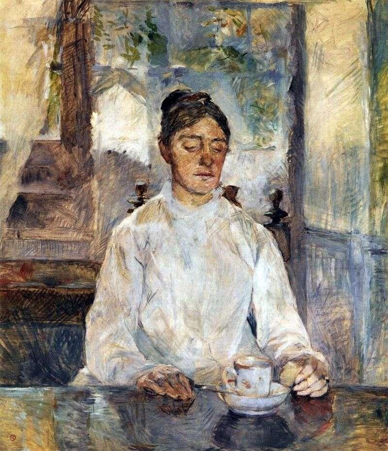 Мати художника, графиня Адель де Тулуз Лотрек за сніданком   Анрі де Тулуз Лотрек