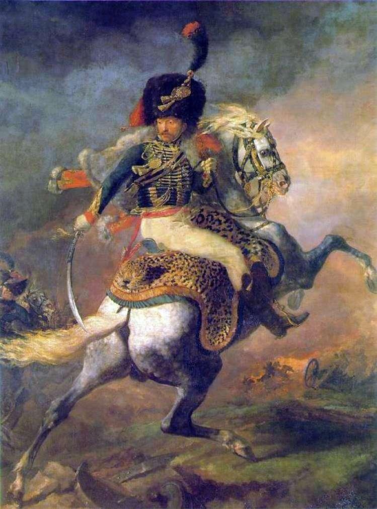 Офіцер кінних єгерів імператорської гвардії, йде в атаку   Теодор Жеріко