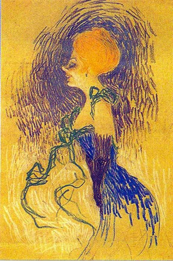 Молода жінка в рукавичках   Анрі де Тулуз Лотрек