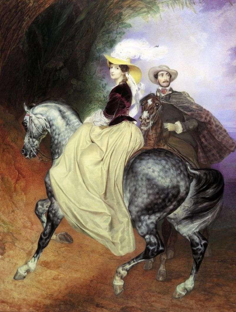 Парний портрет Е. Мюссара і Е. Мюссара   Карл Брюллов
