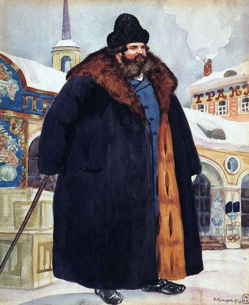 Купець у шубі   Кустодієв