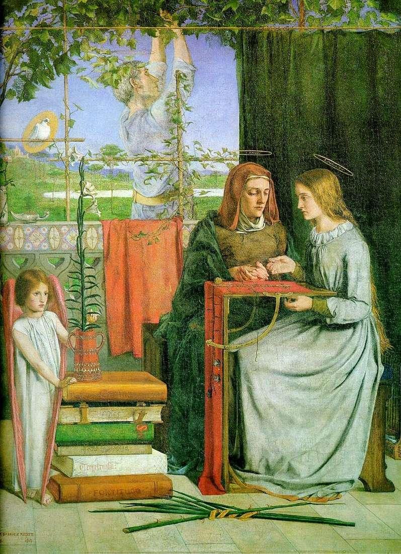 Юність Марії   Данте Россетті