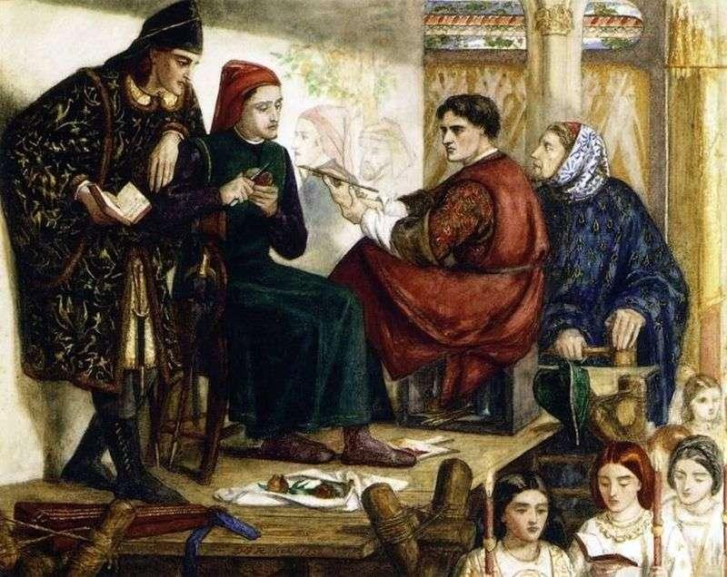 Джотто пише портрет Данте   Вільям Майкл Россетті