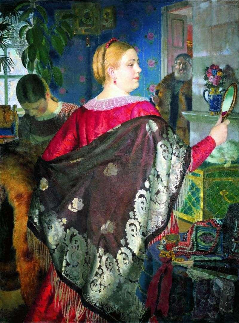 Купчиха з дзеркалом   Борис Кустодієв