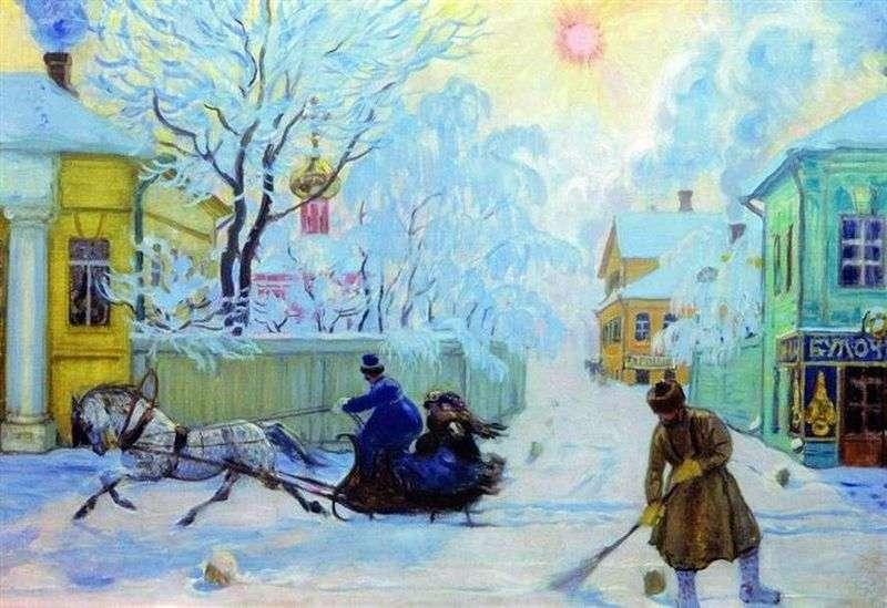 Морозний день     Борис Кустодієв