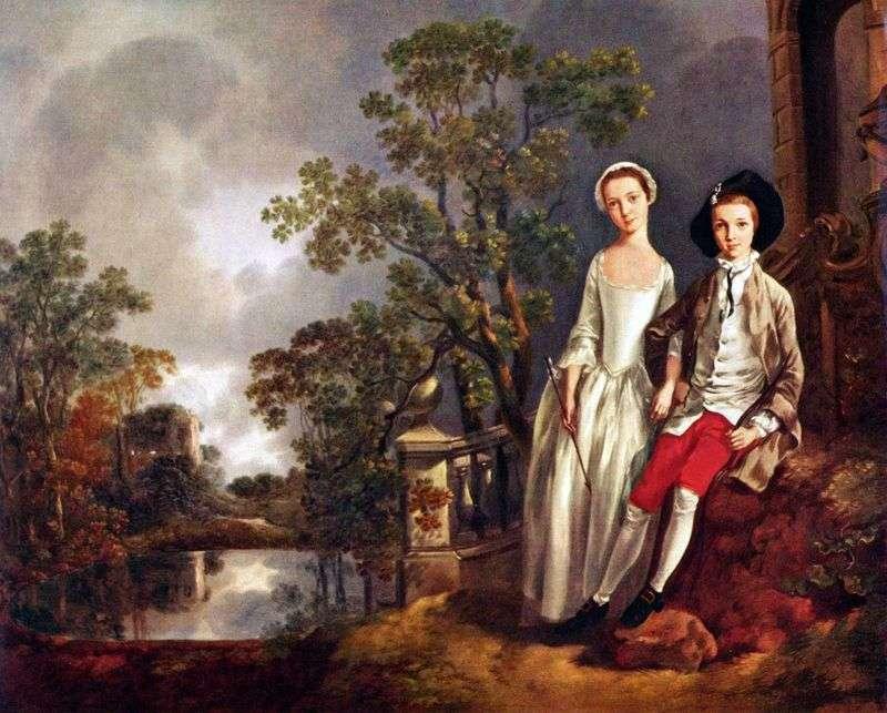 Портрет Энеаджа Ллойда з сестрою Люсі   Томас Гейнсборо