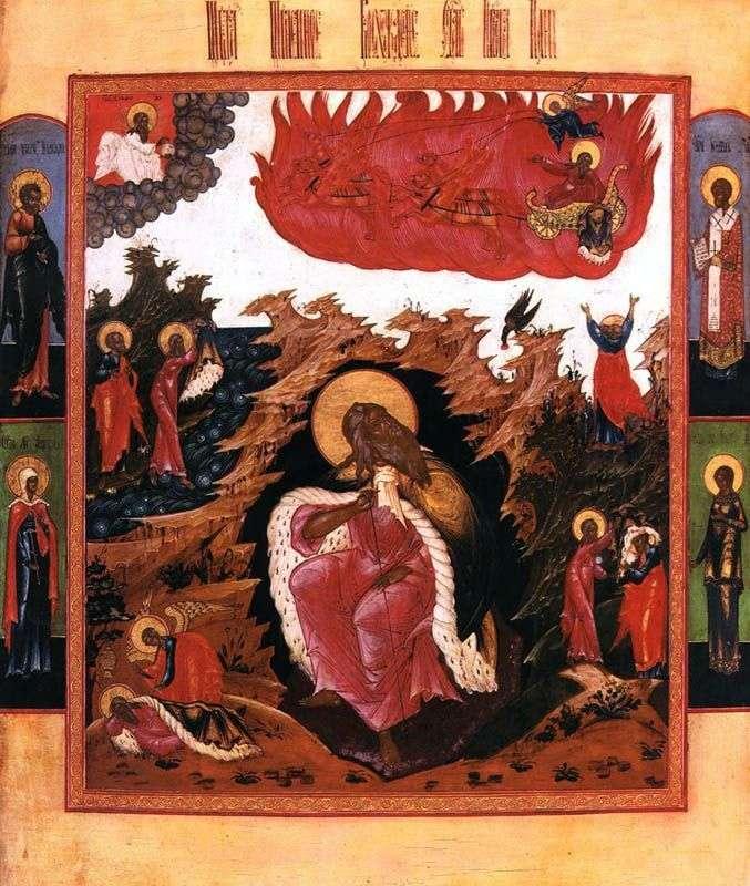 Ілля пророк в пустелі зі сценами житія і Вогненним сходженням
