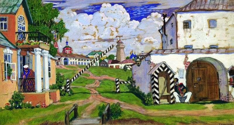 Площа на виїзді з міста   Борис Кустодієв