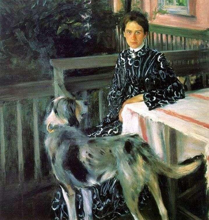 Портрет дружини Юлії Кустодиевой   Борис Кустодієв