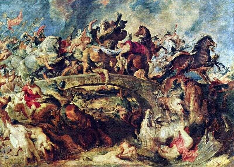 Битва греків з амазонками   Пітер Рубенс