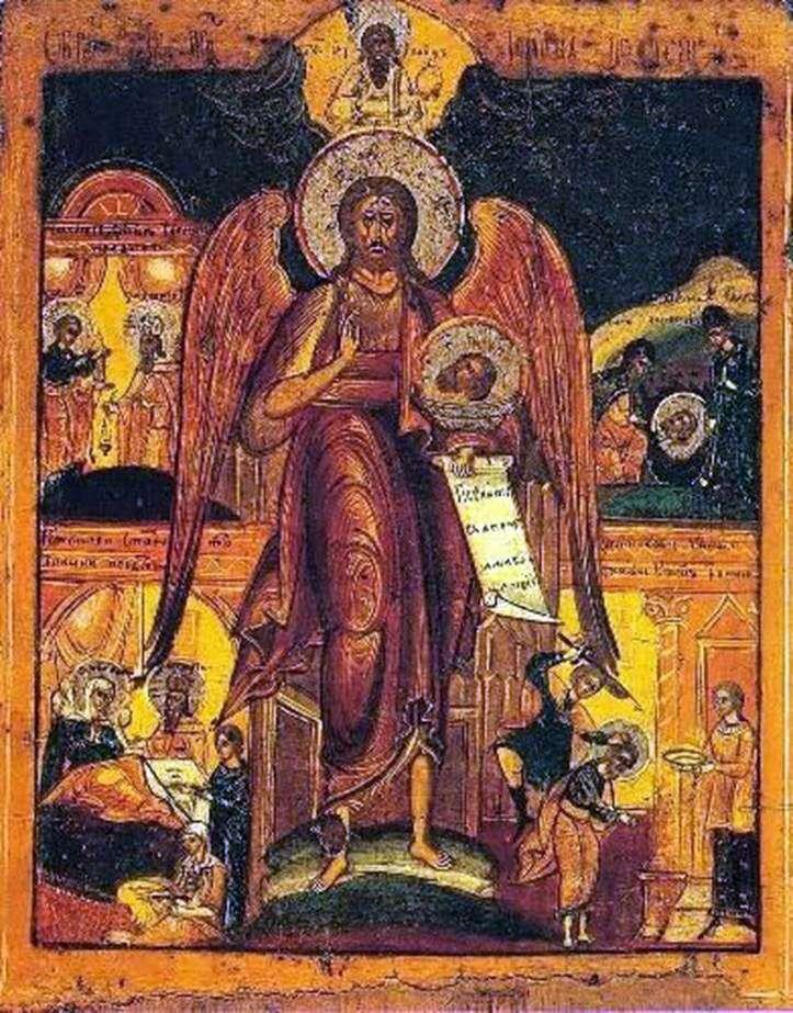Іоанн Предтеча   Ангел пустелі, зі сценами житія