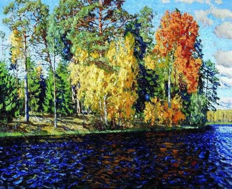 Лісове озеро. Золота осінь (Синя вода)   Станіслав Жуковський