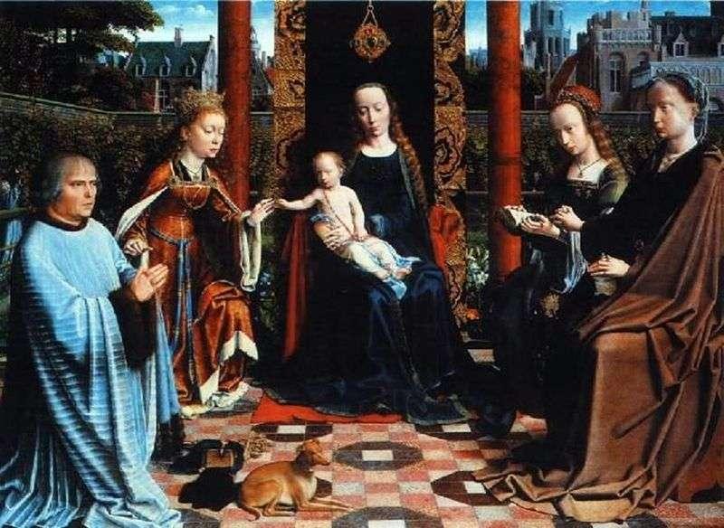 Мадонна з Немовлям, Святими і донатором   Герард Давид