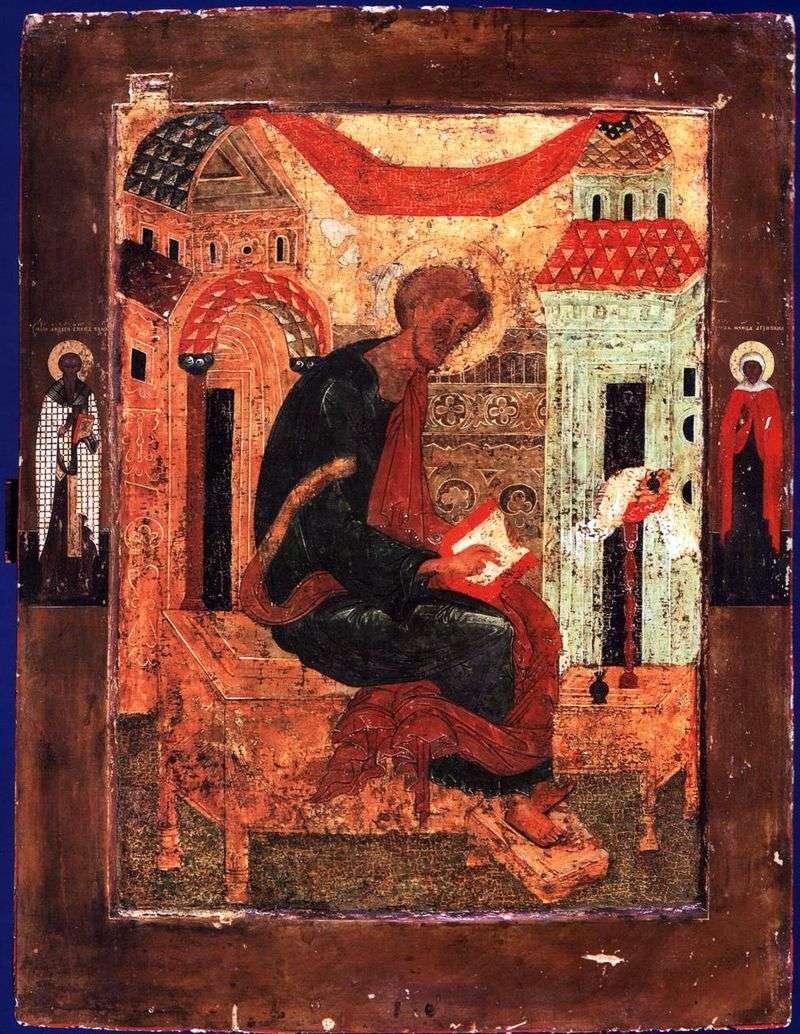 Лука Євангеліст, зі Святими на полях