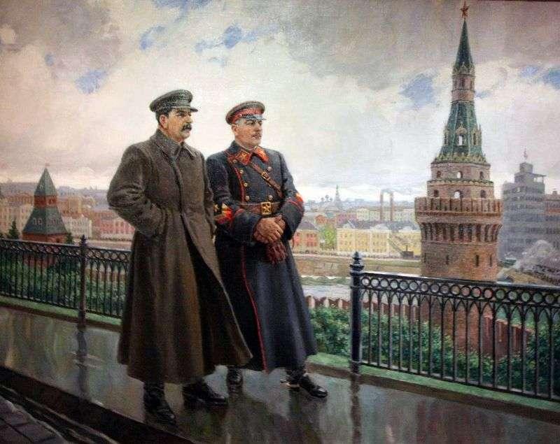 І. в. Сталін і К. Е. Ворошилов в Кремлі   Олександр Герасимов