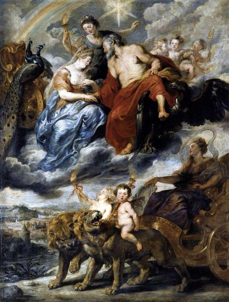 Зустріч Марії Медічі і Генріха IV в Ліоні   Пітер Рубенс