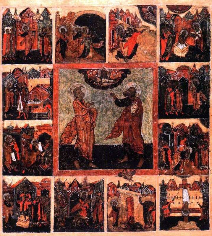 Первоверховние апостоли Петро і Павло, з діяннями в 12 клеймах