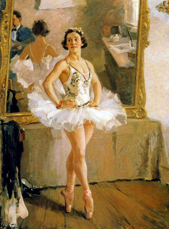 Портрет балерини О. В. Лепешинської   Олександр Герасимов