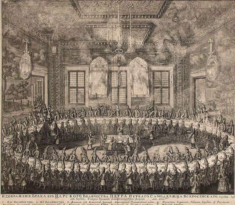 Весілля Петра I і Катерини I 19 лютого   Олексій Зубів