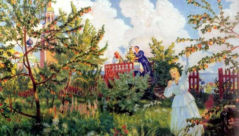 Яблуневий сад   Борис Кустодієв