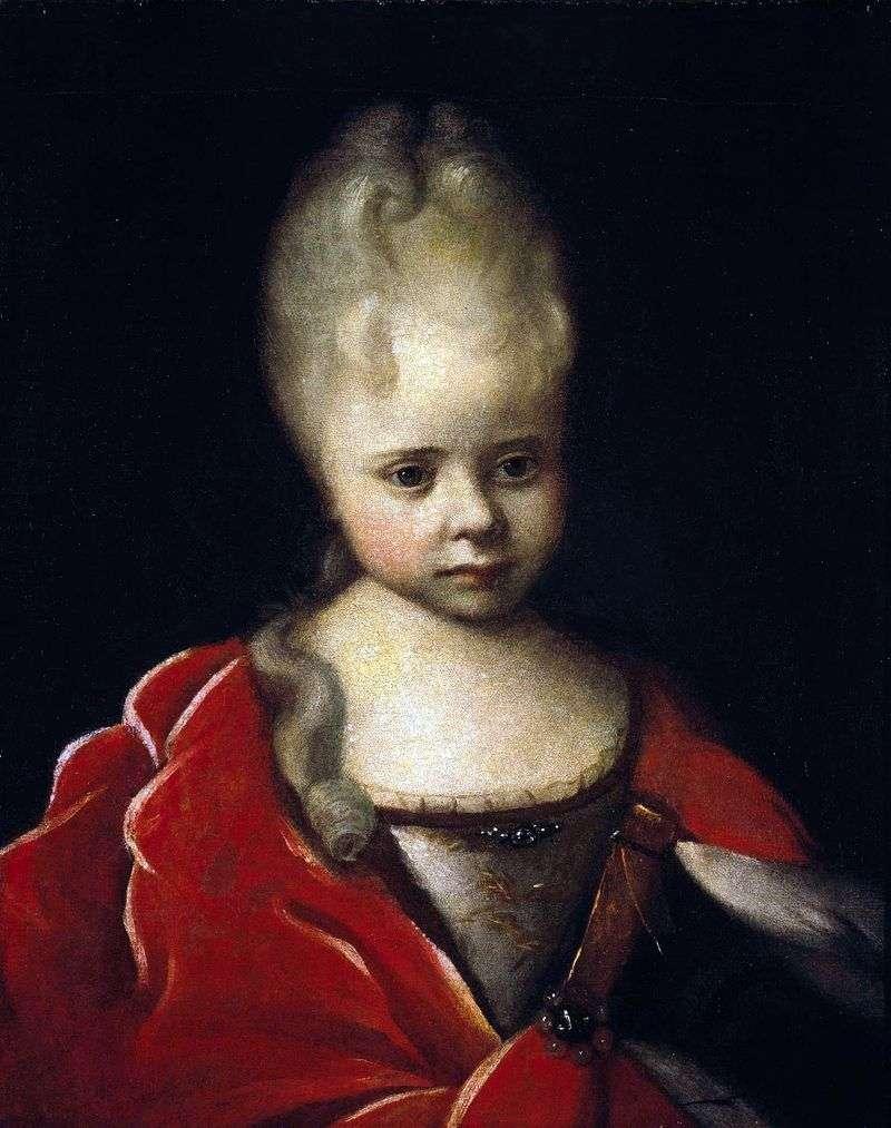 Портрет Єлизавети Петрівни дитиною   Іван Нікітін