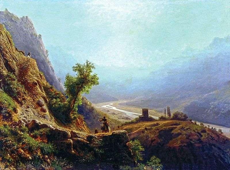 В горах Кавказу   Лев Лагоріо