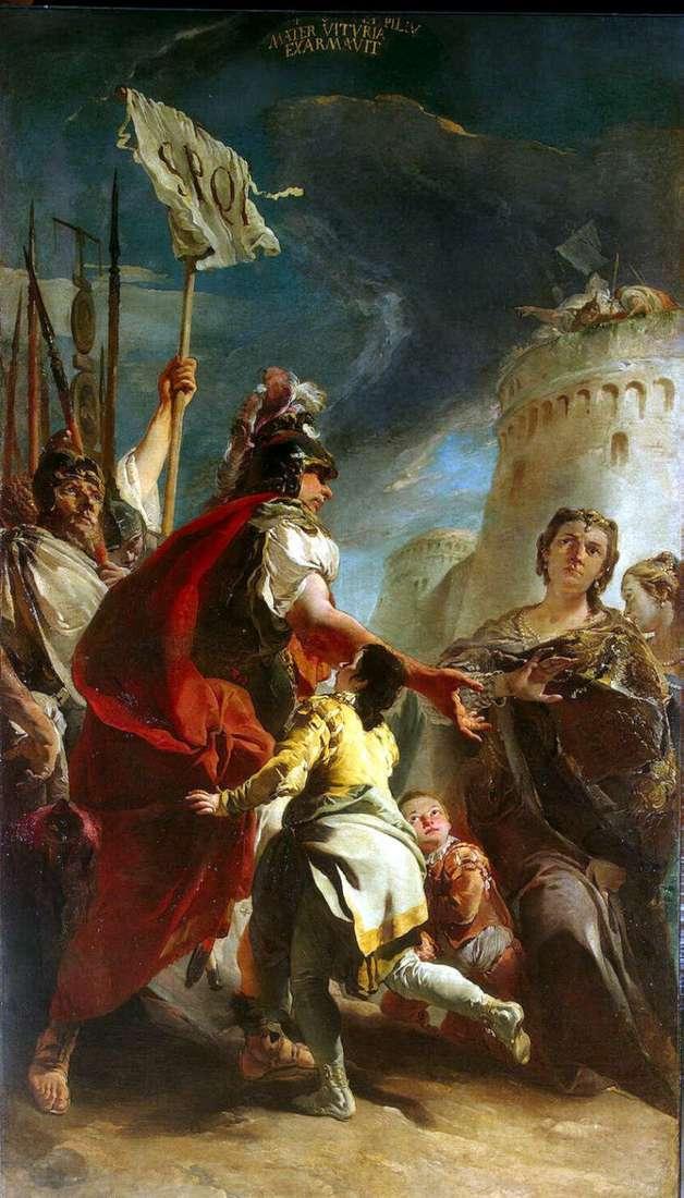 Коріолан під стінами Риму   Джованні Баттіста Тьєполо