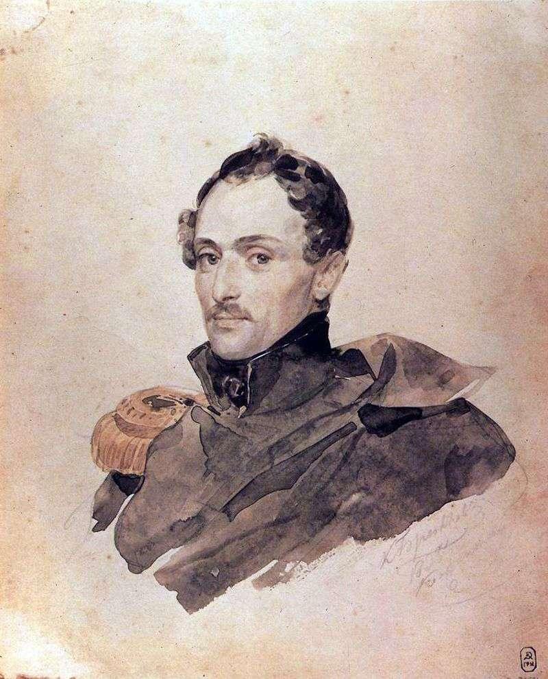 Портрет капітана Б. Костецького   Карл Брюллов