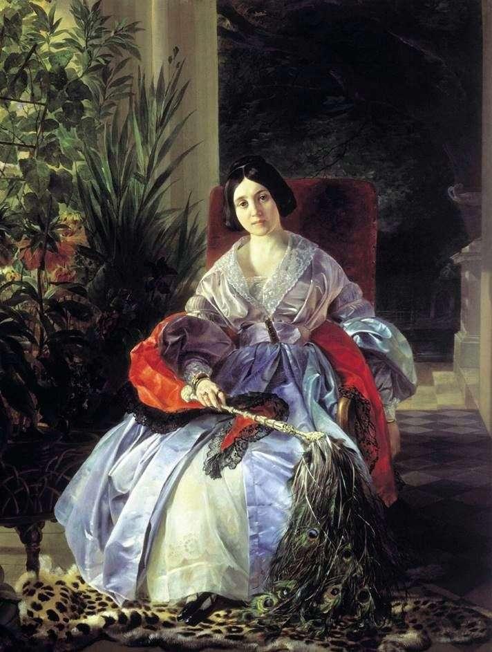 Портрет княгині Е. П. Салтикової   Карл Брюллов