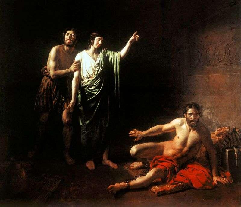 Йосип, тлумачить сни укладеного з ним у вязниці виночерпию і хлебодару   Олександр Іванов