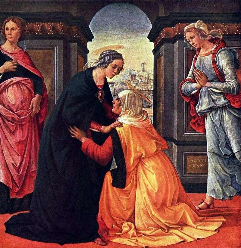 Зустріч Марії та Єлизавети   Доменіко Гірландайо
