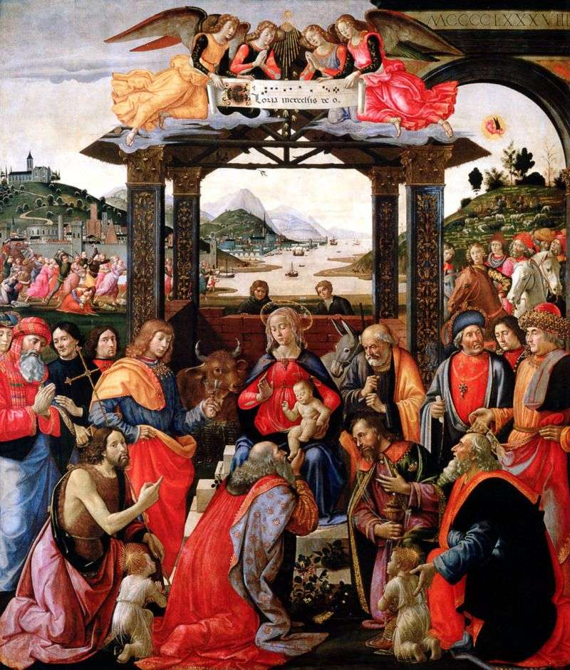 Поклоніння волхвів   Доменіко Гірландайо