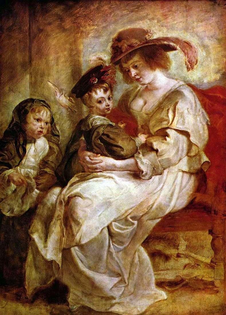 Олена Фоурмен з дітьми Клер Жанною і Франсуа   Пітер Рубенс