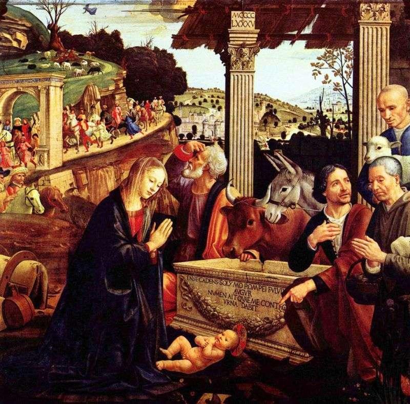 Поклоніння пастухів   Доменіко Гірландайо