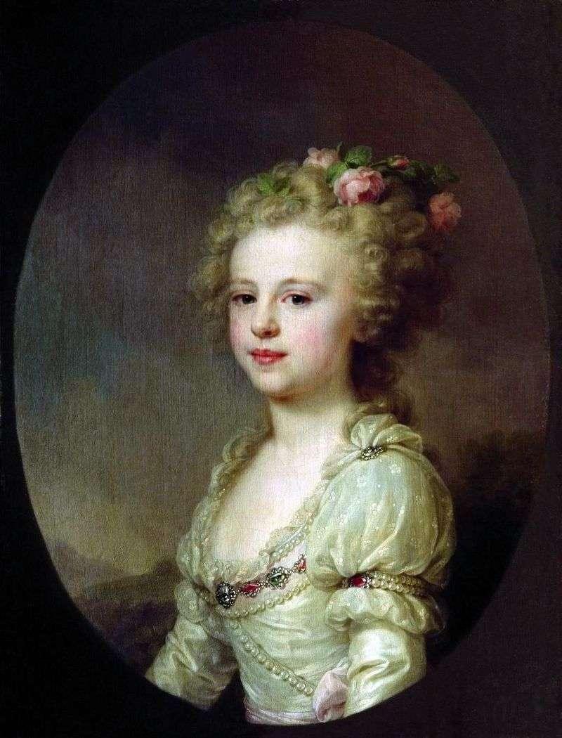 Портрет великої князівни Олександри Павлівни в дитинстві   Йоганн Баптист Лампі